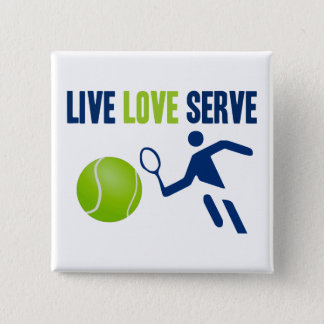 Tennis: Live. Love. Serve Button