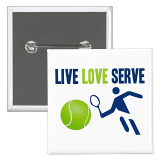 Tennis: Live. Love. Serve Buttons