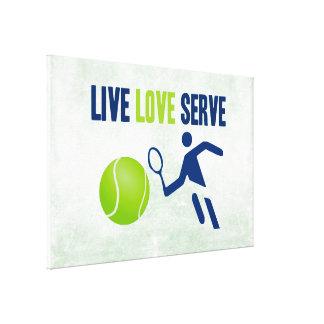 Tennis: Live. Love. Serve Canvas Print