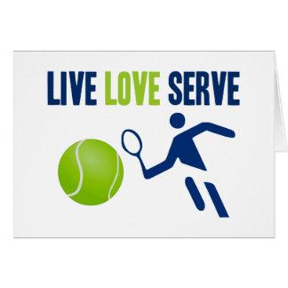 Tennis: Live. Love. Serve Card