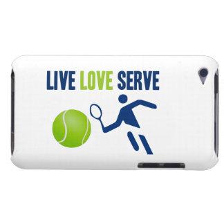 Tennis Live Love Serve iPod Case-Mate Case