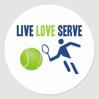 Tennis: Live. Love. Serve Classic Round Sticker