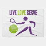 Tennis: Live. Love. Serve. Hand Towel