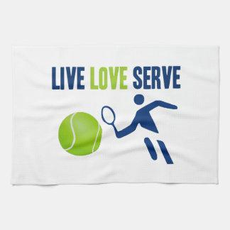Tennis: Live. Love. Serve Hand Towels