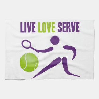 Tennis: Live. Love. Serve. Kitchen Towel