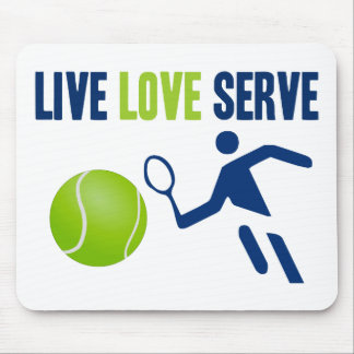 Tennis: Live. Love. Serve Mouse Pad