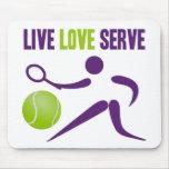 Tennis: Live. Love. Serve. Mousepad