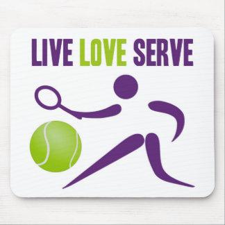 Tennis: Live. Love. Serve. Mouse Pad