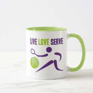 Tennis: Live. Love. Serve. Mug
