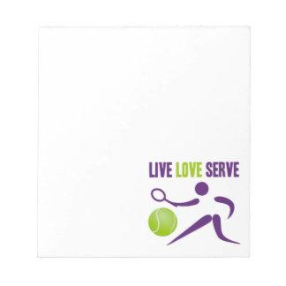 Tennis: Live. Love. Serve. Notepad