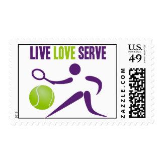 Tennis: Live. Love. Serve. Postage