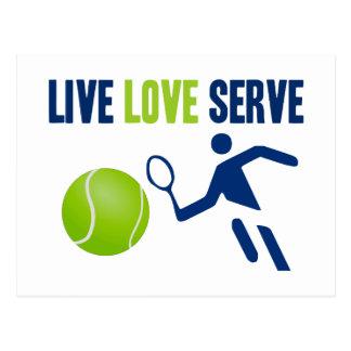 Tennis: Live. Love. Serve Postcard