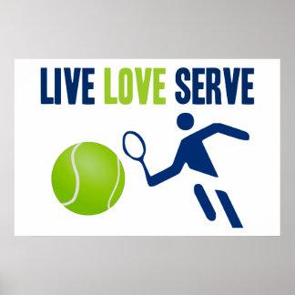 Tennis: Live. Love. Serve Poster
