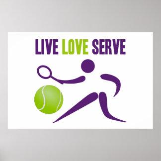 Tennis: Live. Love. Serve. Poster