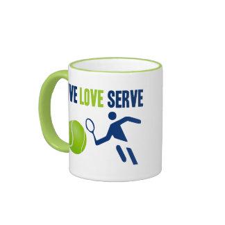 Tennis: Live. Love. Serve Ringer Mug