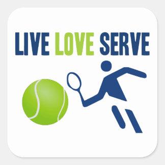 Tennis: Live. Love. Serve Square Sticker
