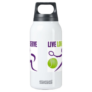 Tennis: Live. Love. Serve. Thermos Water Bottle