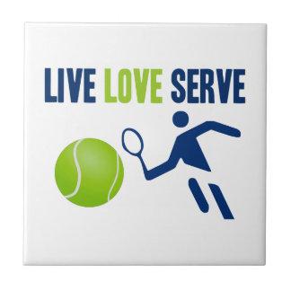 Tennis: Live. Love. Serve Tile