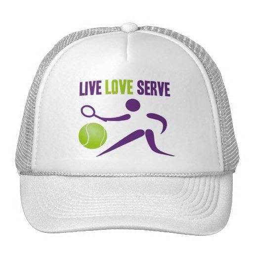 Tennis: Live. Love. Serve. Trucker Hat