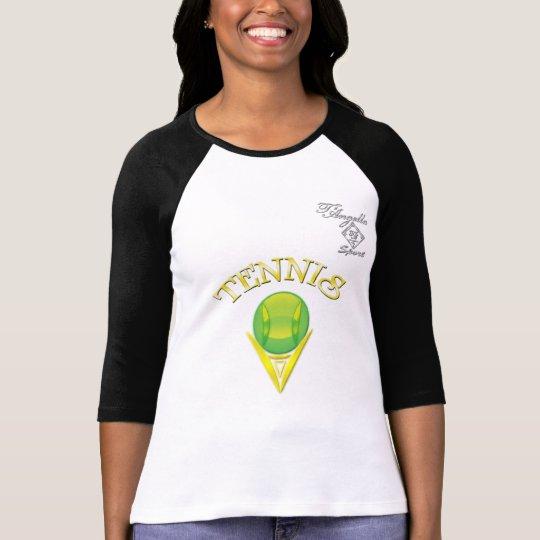 Tennis logo 3/4 Sleeve Raglan T-Shirt