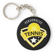 Tennis Logo Design Keychain