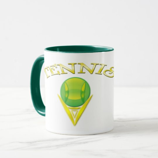 Tennis logo Ringer Mug