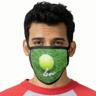 Tennis love All-Over Print Face Mask