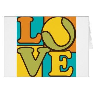 Tennis Love Card