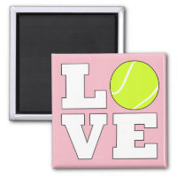 Tennis Love Custom Color Magnet for Tennis Players