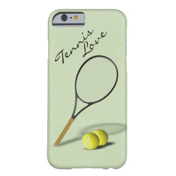 Tennis Love Green Sport Barely There iPhone 6 Case