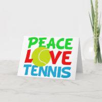 Tennis Love Holiday Card