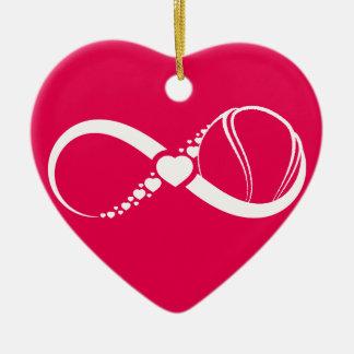 Tennis Love Infinity Heart Ornament