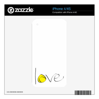 Tennis Love iPhone Skin Skin For The iPhone 4S