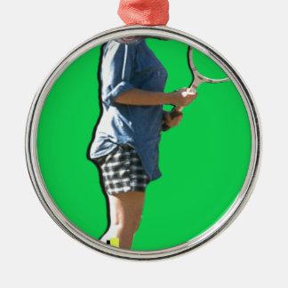 Tennis Love Metal Ornament
