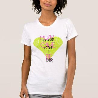 TENNIS LOVE 'n FAIR by Lake Tennis Tee Shirts
