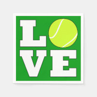 Tennis LOVE Party or Banquet Cocktail Napkins