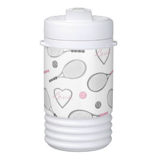 Tennis Love Pattern Igloo Beverage Cooler