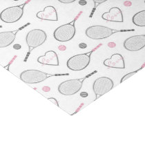 Tennis Love Pattern Tissue Paper