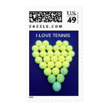 Tennis Love Postage Stamps