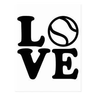 Tennis love postcard
