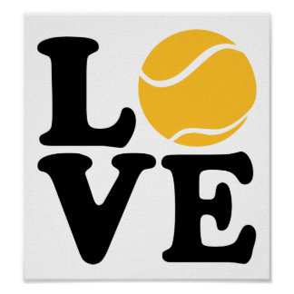 Tennis love poster