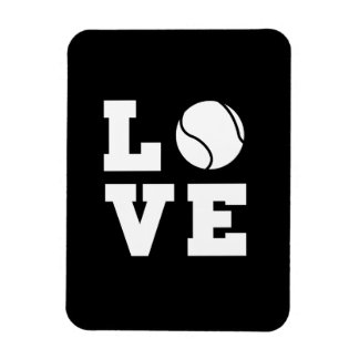 Tennis Love Rectangular Photo Magnet