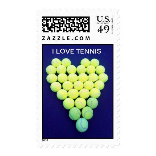 Tennis Love Stamp