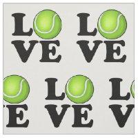 Tennis Love Tennis Fan Fabric