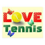 Tennis Love, Valentine's day Postcard