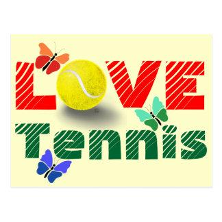 Tennis Love Valentine's day Postcard