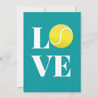 Tennis Love Valentine's Day Sport Themed Athletic Holiday Card