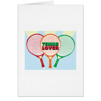 Tennis Lover Greeting Cards