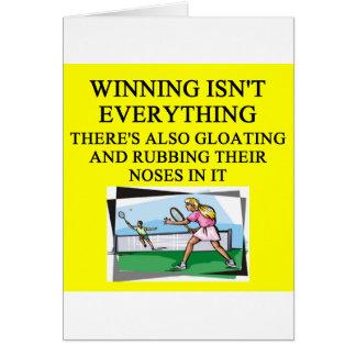 tennis lover greeting card