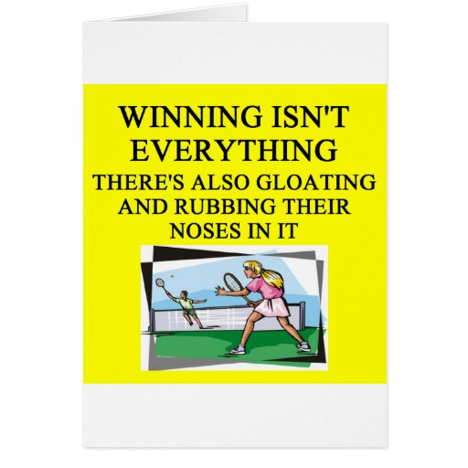 tennis lover greeting card